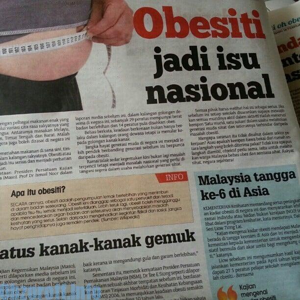 Let Duet akhbar: Berat Badan
