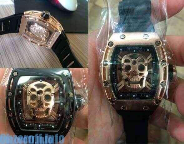как выглядит копия часов richard mille с черепом