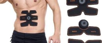 Cinturón miostimulator EMS Trainer para entrenamiento y crecimiento muscular y abdominales