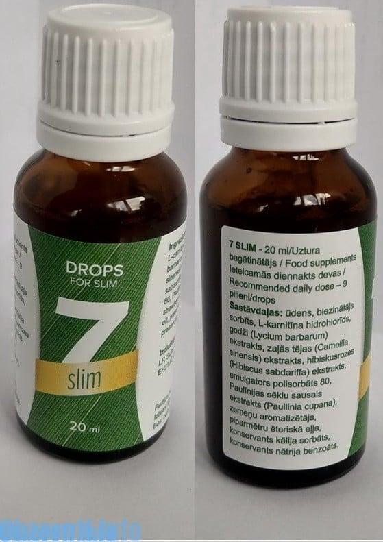 Picături 7-Slim pentru pierderea în greutate: o săptămână subțire