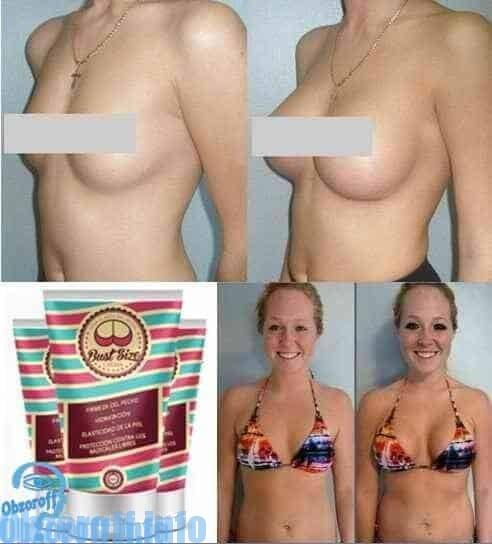 Risultati prima e dopo l'applicazione della crema Bust Size per aumentare il seno