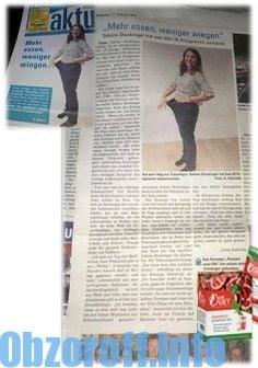 Diet Duet: ein Medikament zur Gewichtsreduktion in der Zeitung