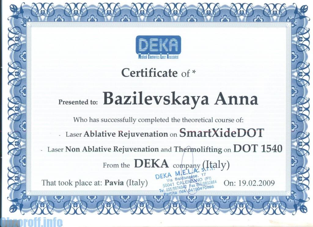 Dermatolog Genina (Bazilevskaya) Anna Evgenievna