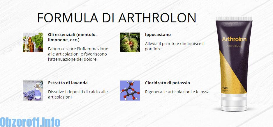 Composizione e componenti della crema di Arthrolon