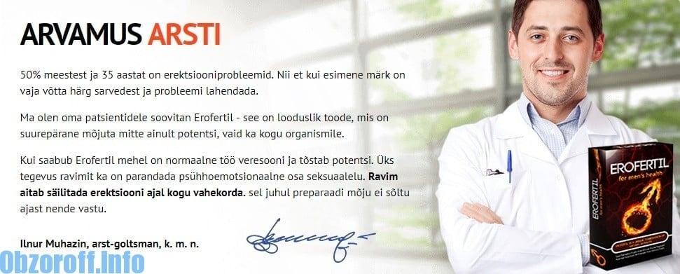 ARVAMUS ARSTI Erofertil