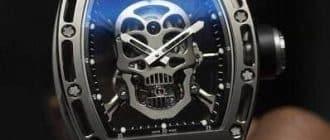 Часы Richard Mille RM 052 Skull Tourbillon описание и характеристики