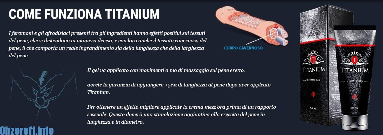 Il principio di azione della Titanium gel