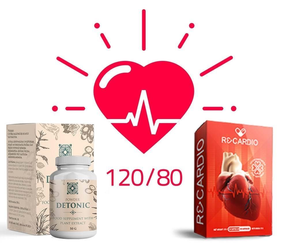 mijloace Detonic   и  Recardio pentru tratamentul hipertensiunii arteriale