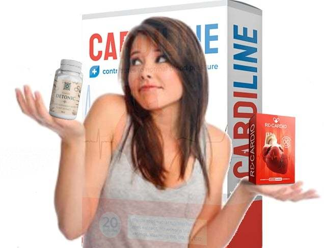 Capsule benefits Cardiline  compared with Detonic, Recardio