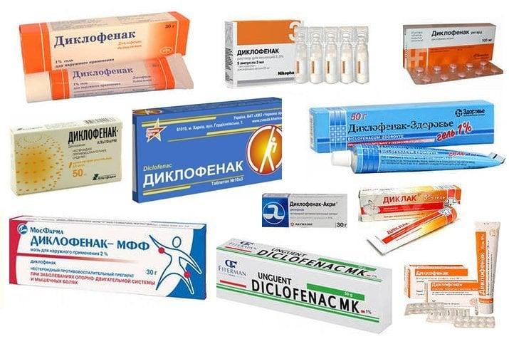 Diclofenac - lékové formy