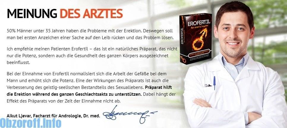 Erofertil: Meinung von Ärzten