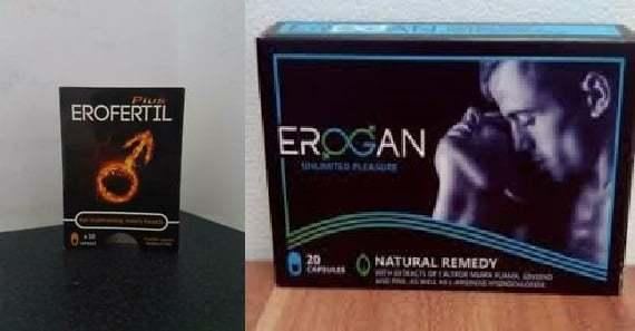 Erofertil at Erogan upang mapabuti ang potency