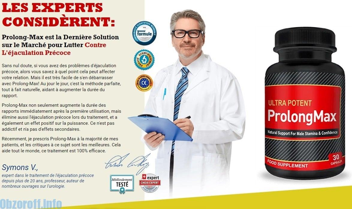 Avis du docteur sur les comprimés ProlongMax