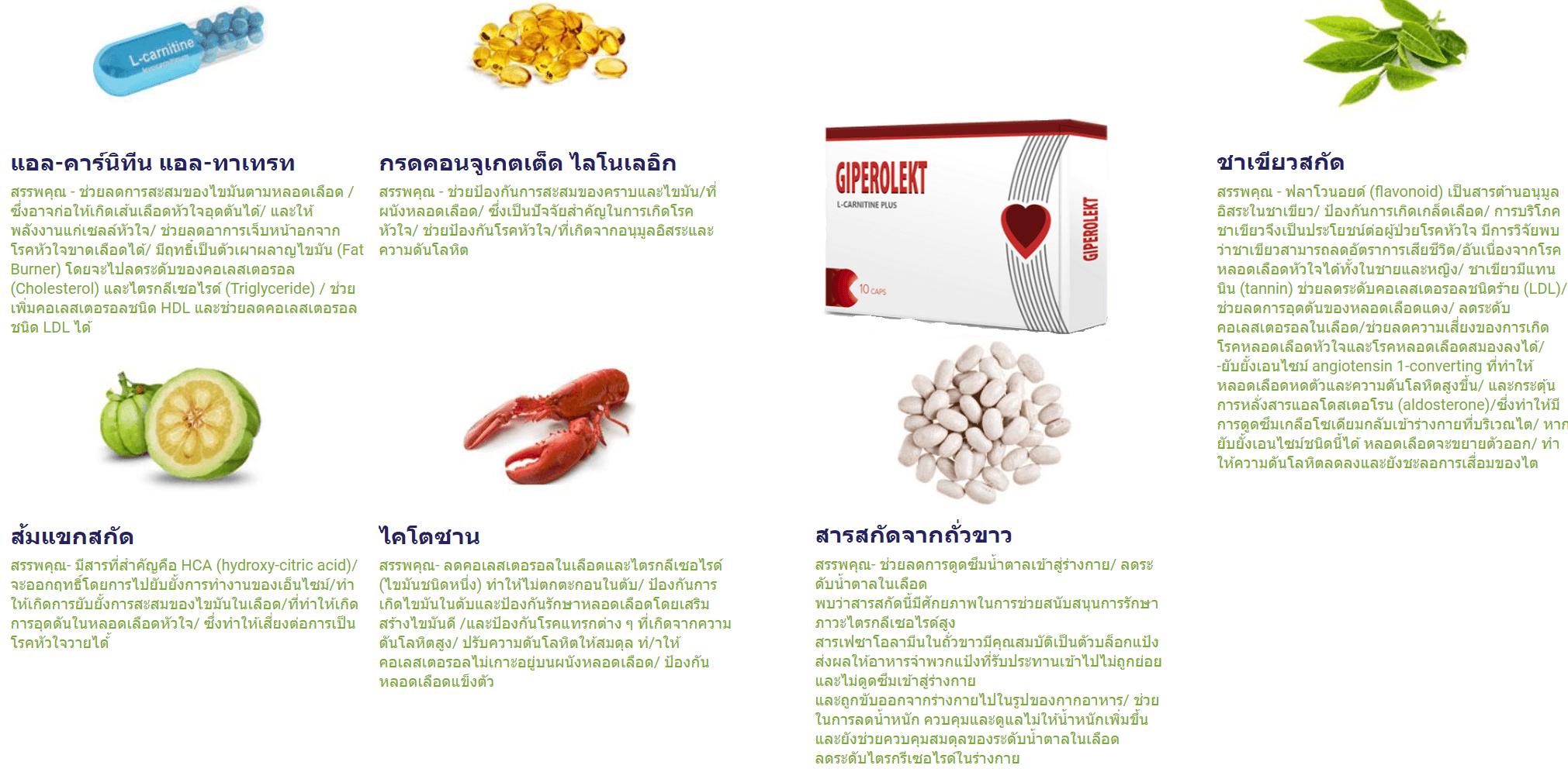 องค์ประกอบของแคปซูล Giperolekt