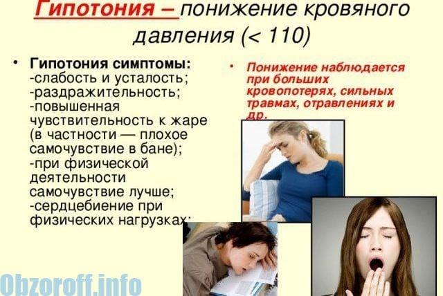 Симптоми на хипотония