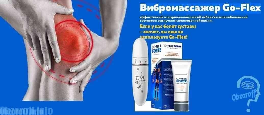 Masaj vibrator Go Flex Forte și gel pentru tratamentul articulațiilor