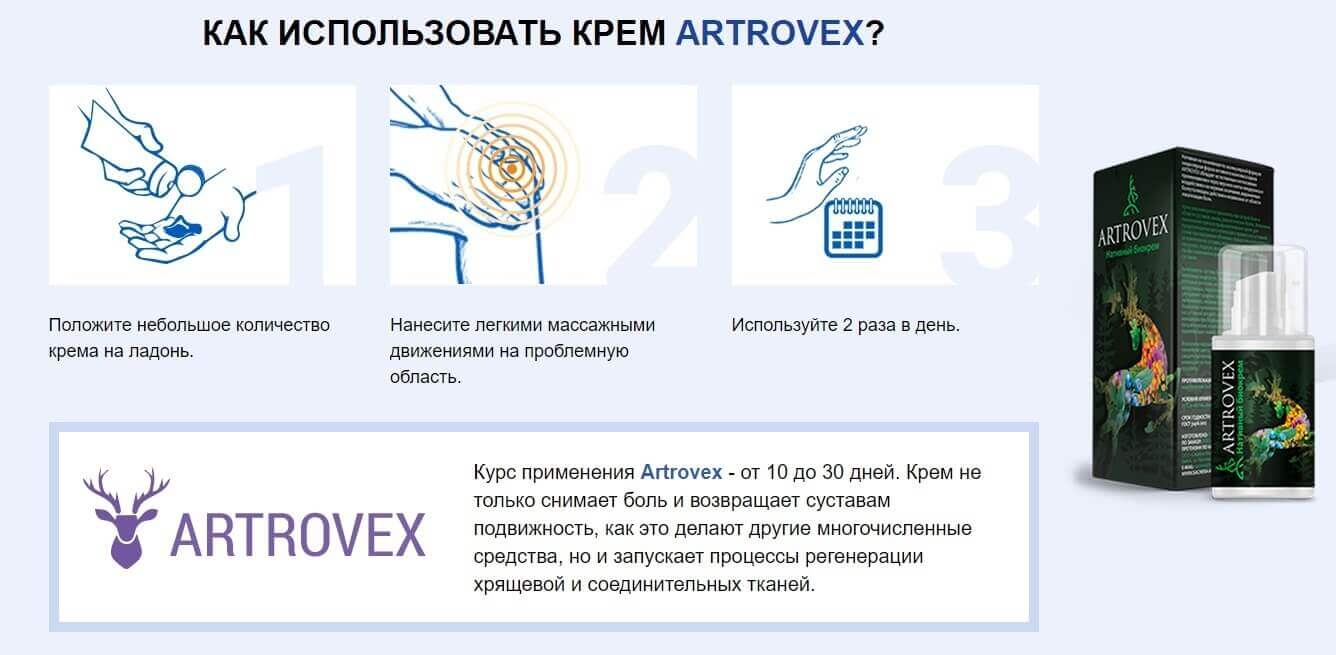 Instructions for use cream Artrovex