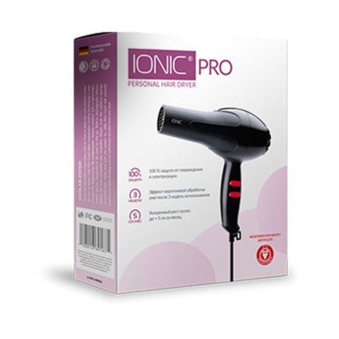 Hairdryer Ionic Pro Hair with ionization system from hair section
