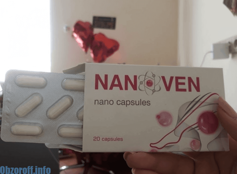 Nanoven capsules for varicose veins