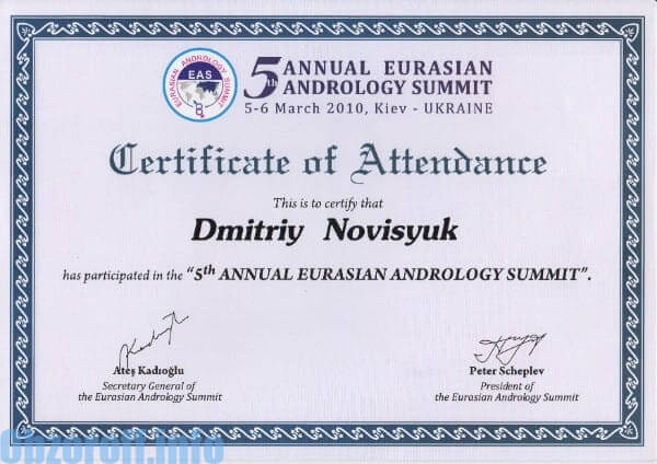Arts-uroloog Novitsyuk Dmitry Fedorovich