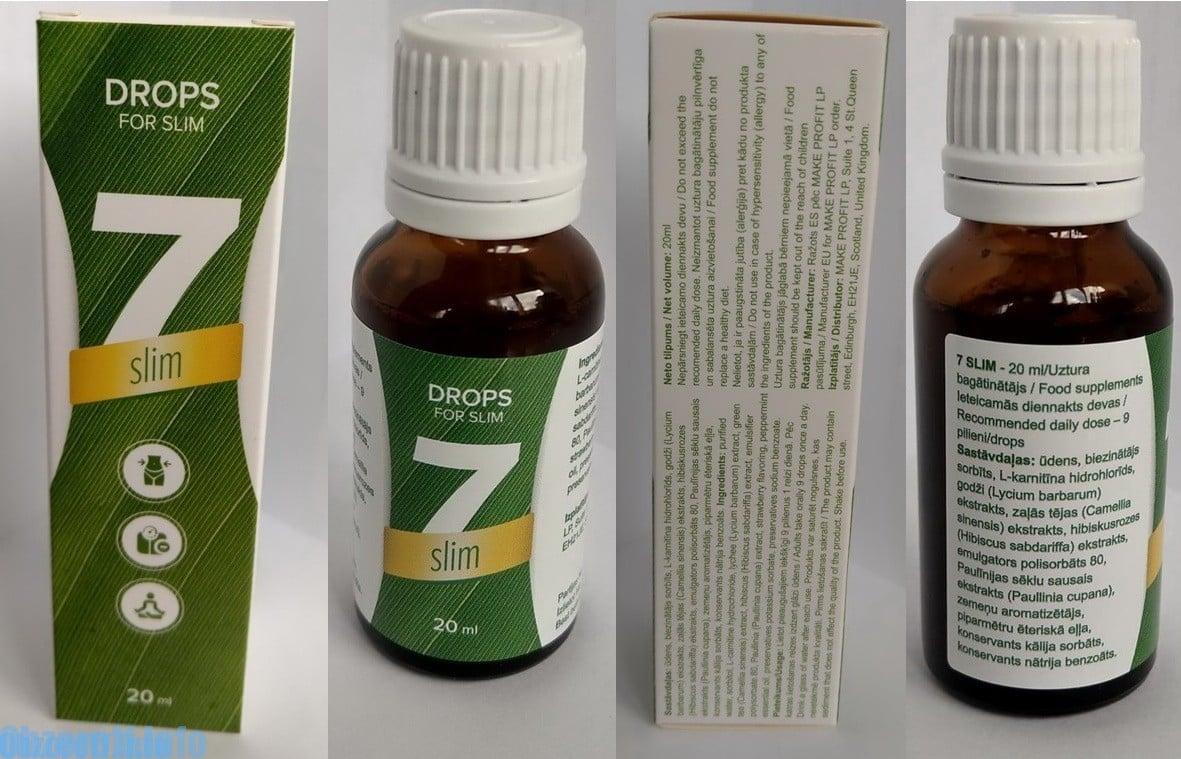 7-Slim svorio metimui: monodose 7 Slim svorio metimui