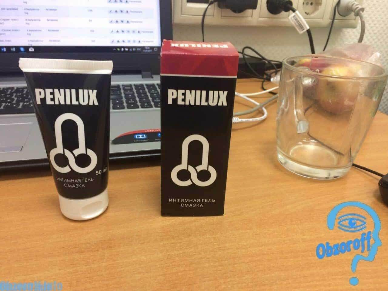 लिंग इज़ाफ़ा क्रीम Penilux Gel बॉक्स और ट्यूब