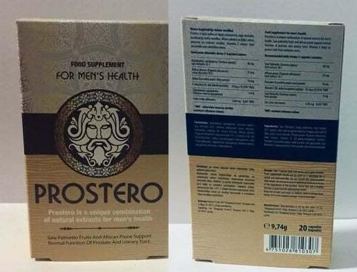 Prostero პროსტატიტის სამკურნალოდ