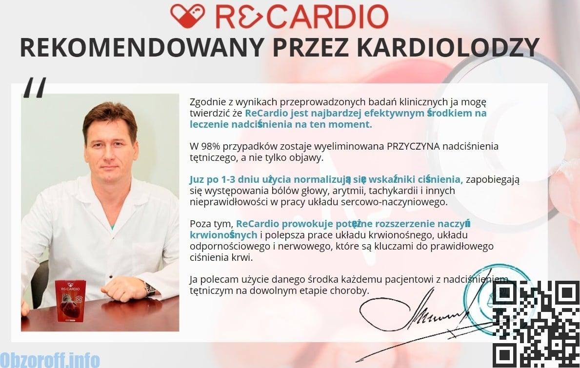 Przegląd kardiologa na temat skuteczności leku Recardio