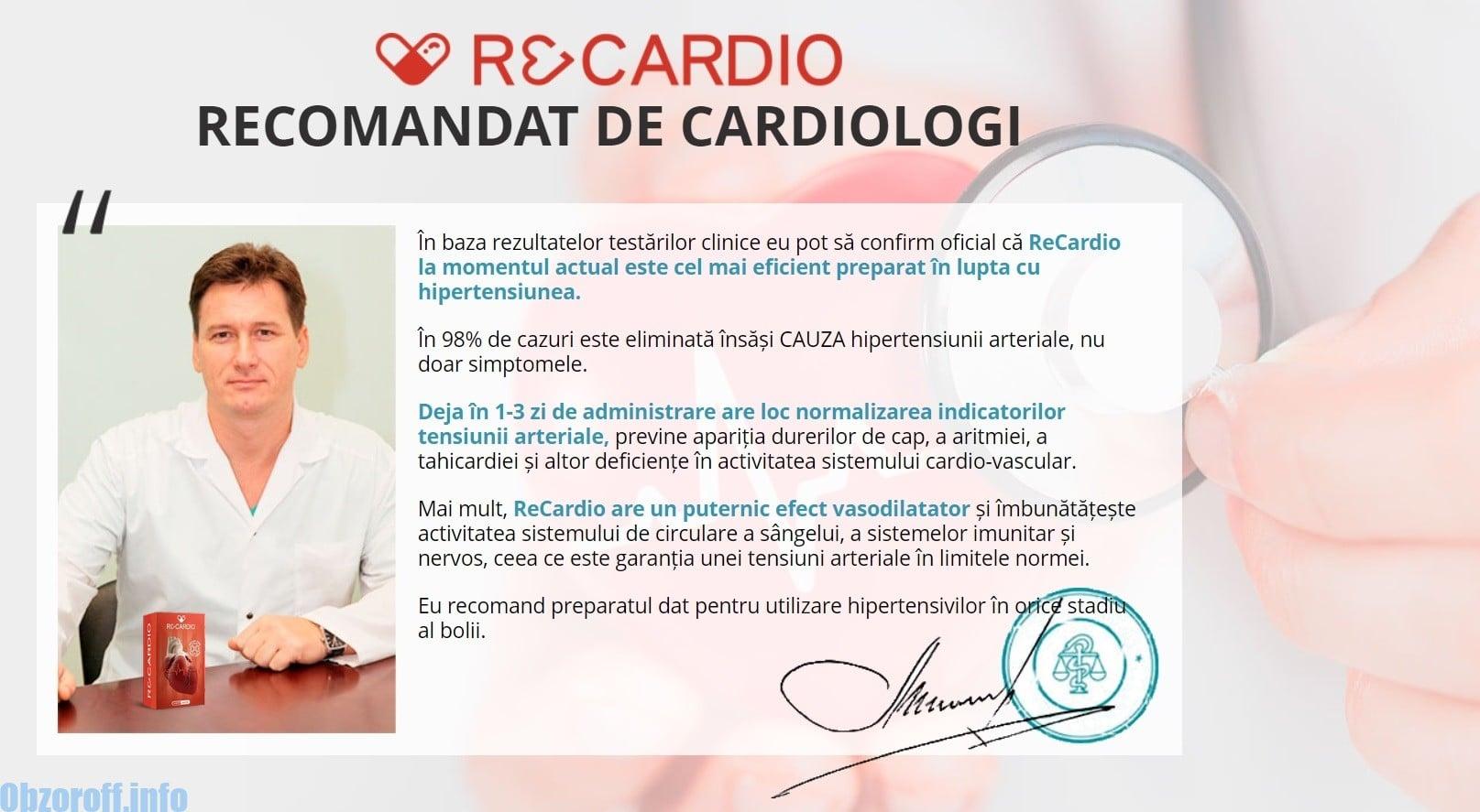 Feedback de la un medic cardiolog despre Recardio
