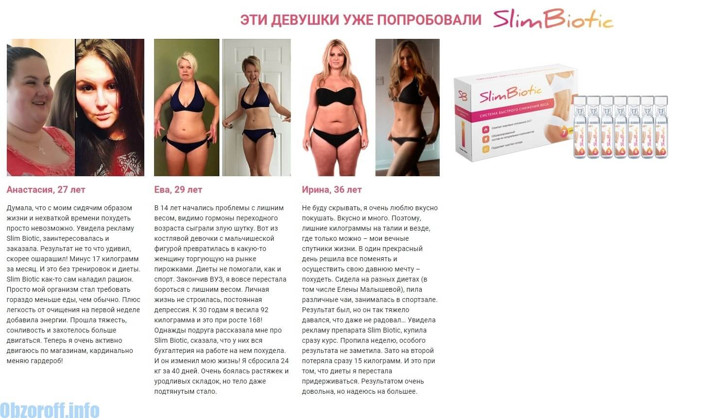 Examen des applications SlimBiotic