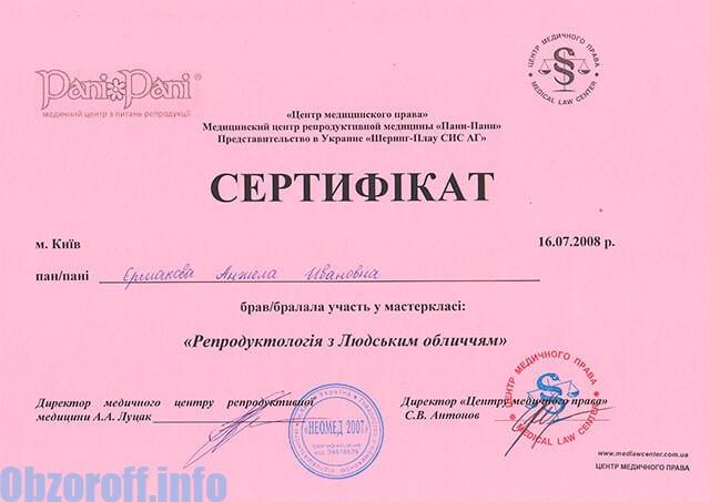 Гинеколог Анджела Ermakova I.