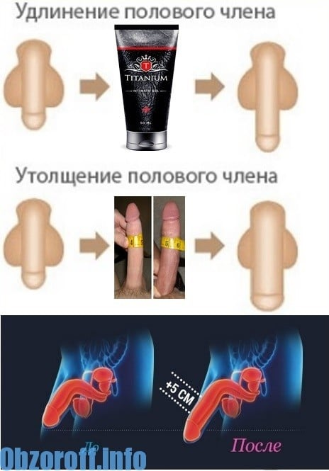 Titanium gel for penis enlargement in length and thickness