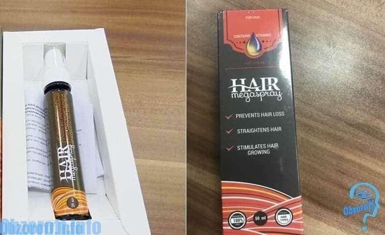 Hair Megaspray na pampabilis ng pagtubo ng buhok