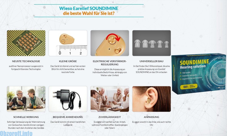 Vorteile des SOUNDIMINE Hörgerätes Earelief