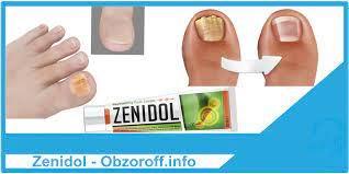 Крем Zenidol для устранения грибка на ногтях и коже